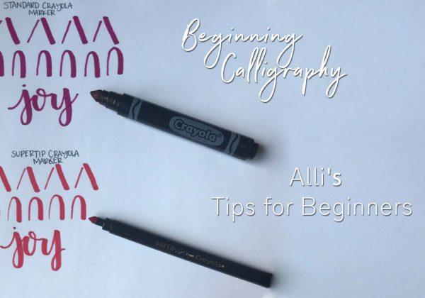 Hand Lettering | Calligraphy Tips for Beginners | AZ Photographer