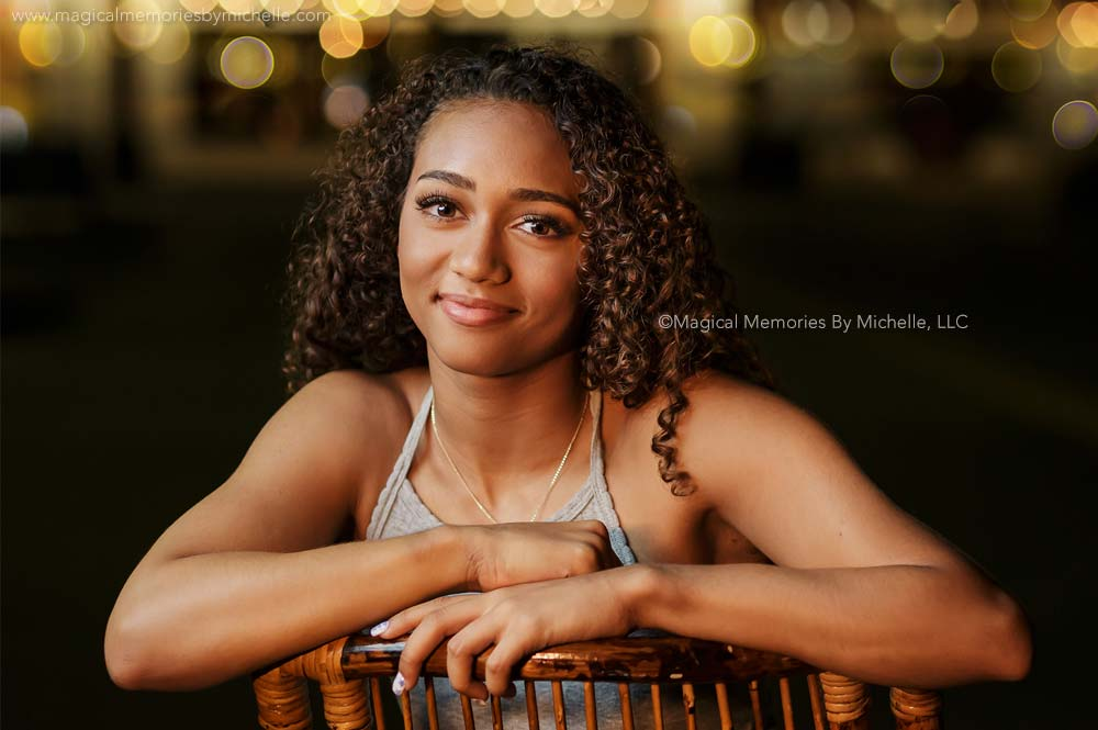 Night Time Senior Pictures in Downtown Chandler