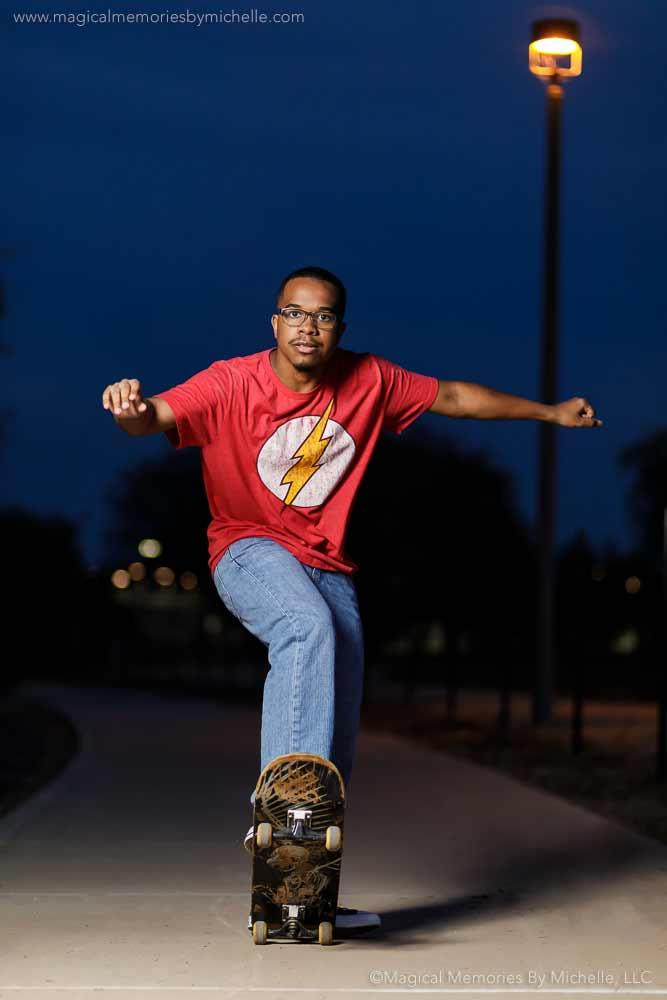 Mesquite Gilbert Senior Pictures Skateboard
