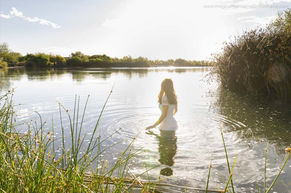 Phoenix Senior Pictures Outdoors Lake
