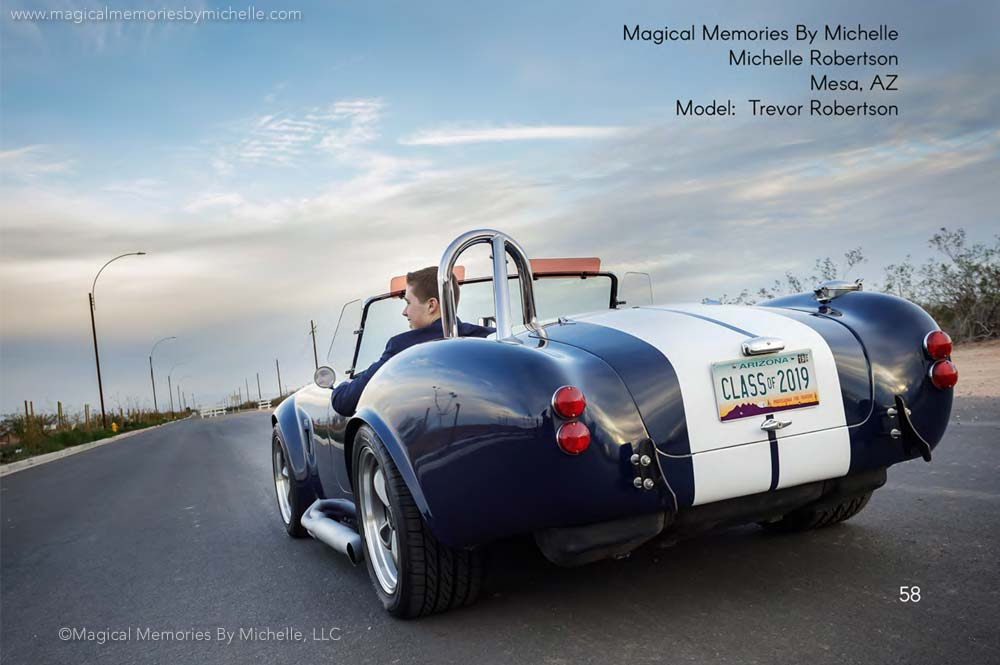 Award Winning Senior Pictures Sports Cars Mesa AZ