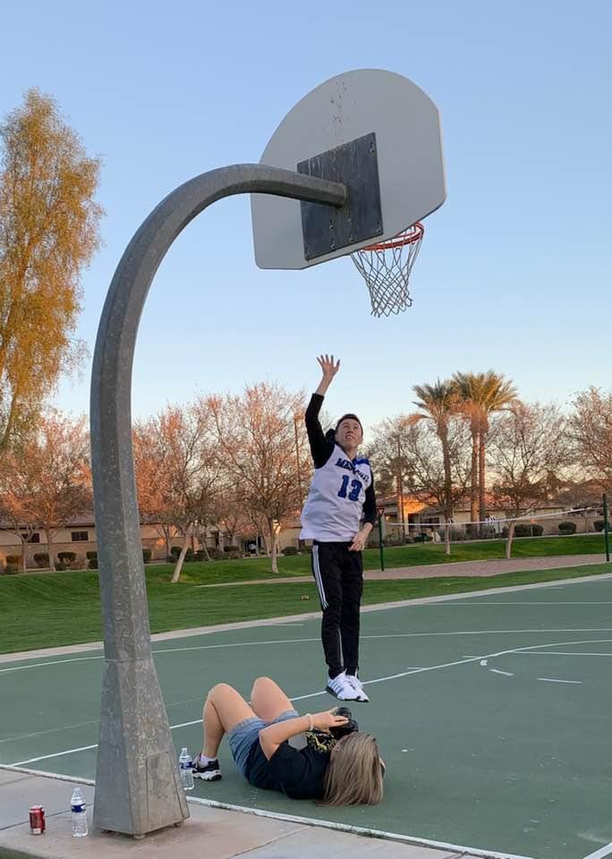 High School Senior Pictures Basketball