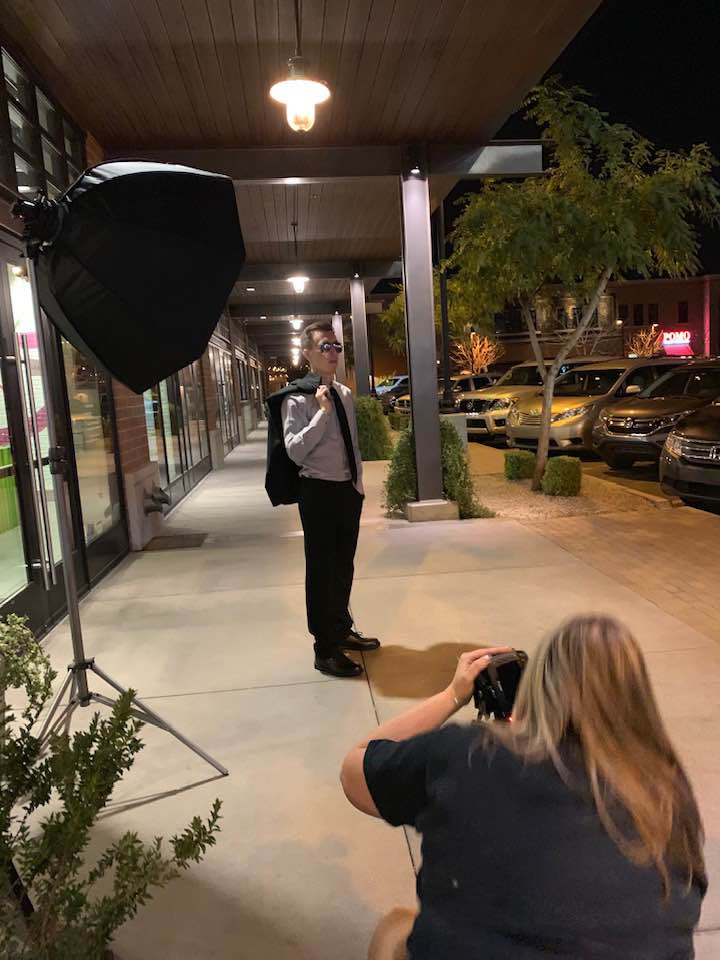 High School Senior Pictures Gilbert Photographer After Dark
