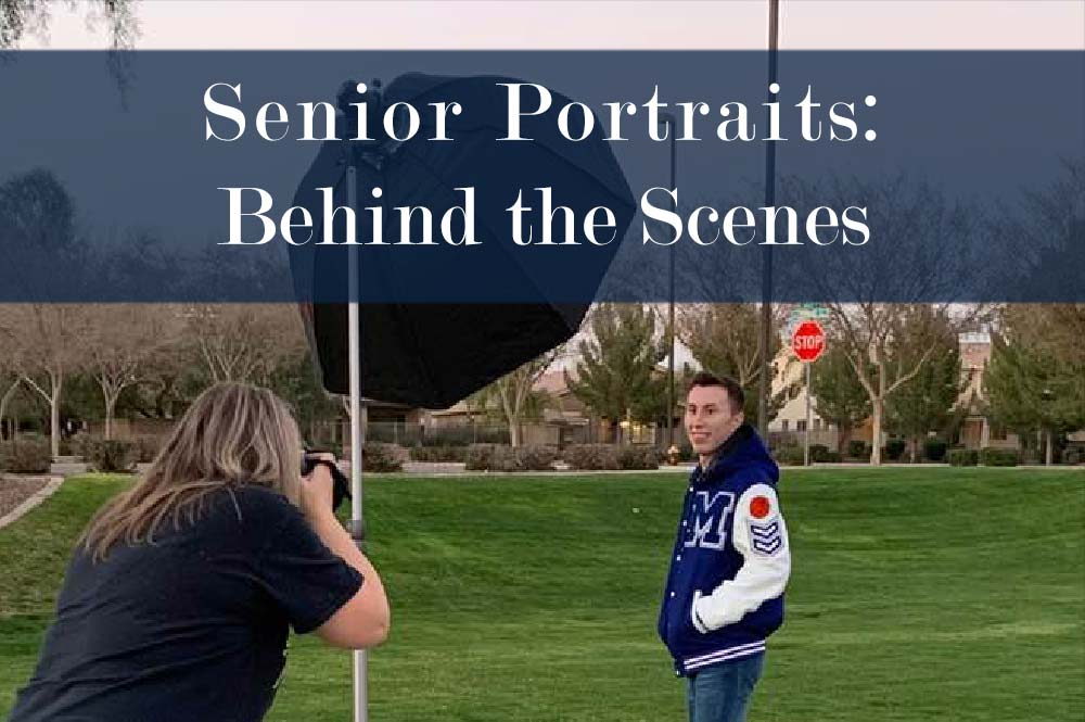 High School Senior Portrait Photography | Behind the Scenes