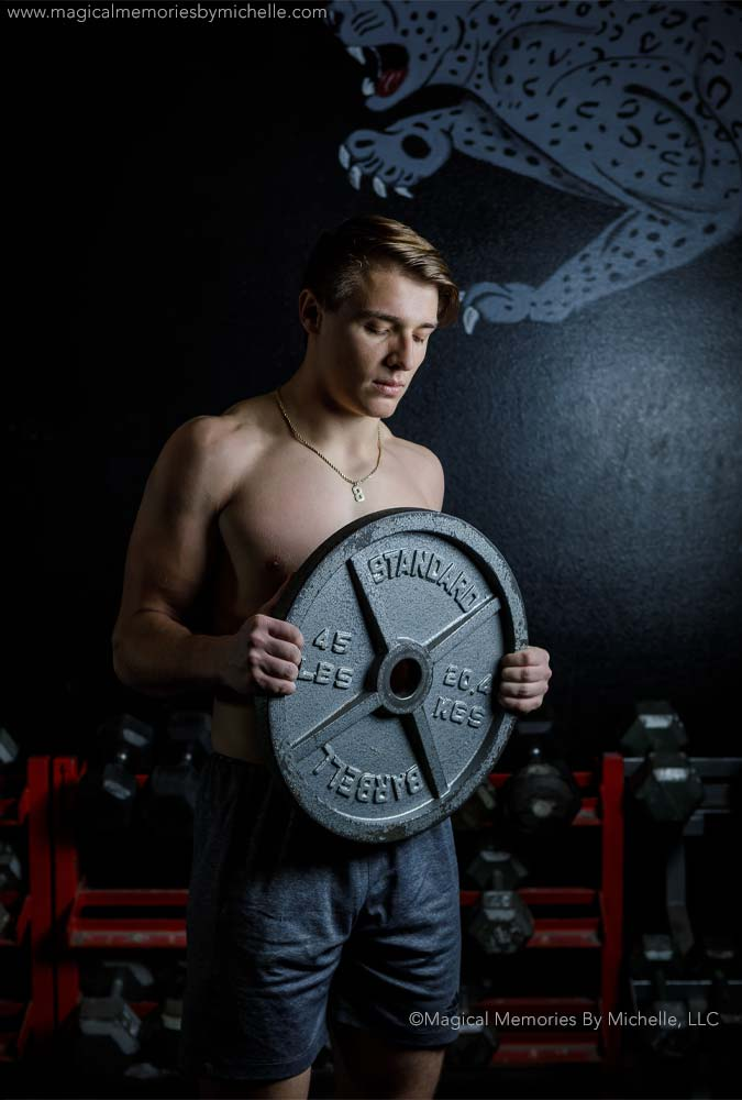 Weight Room Senior Photographer Mesa Az