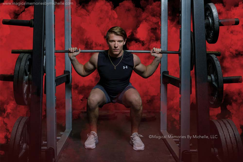 Weight Room Senior Pictures Mesa Az