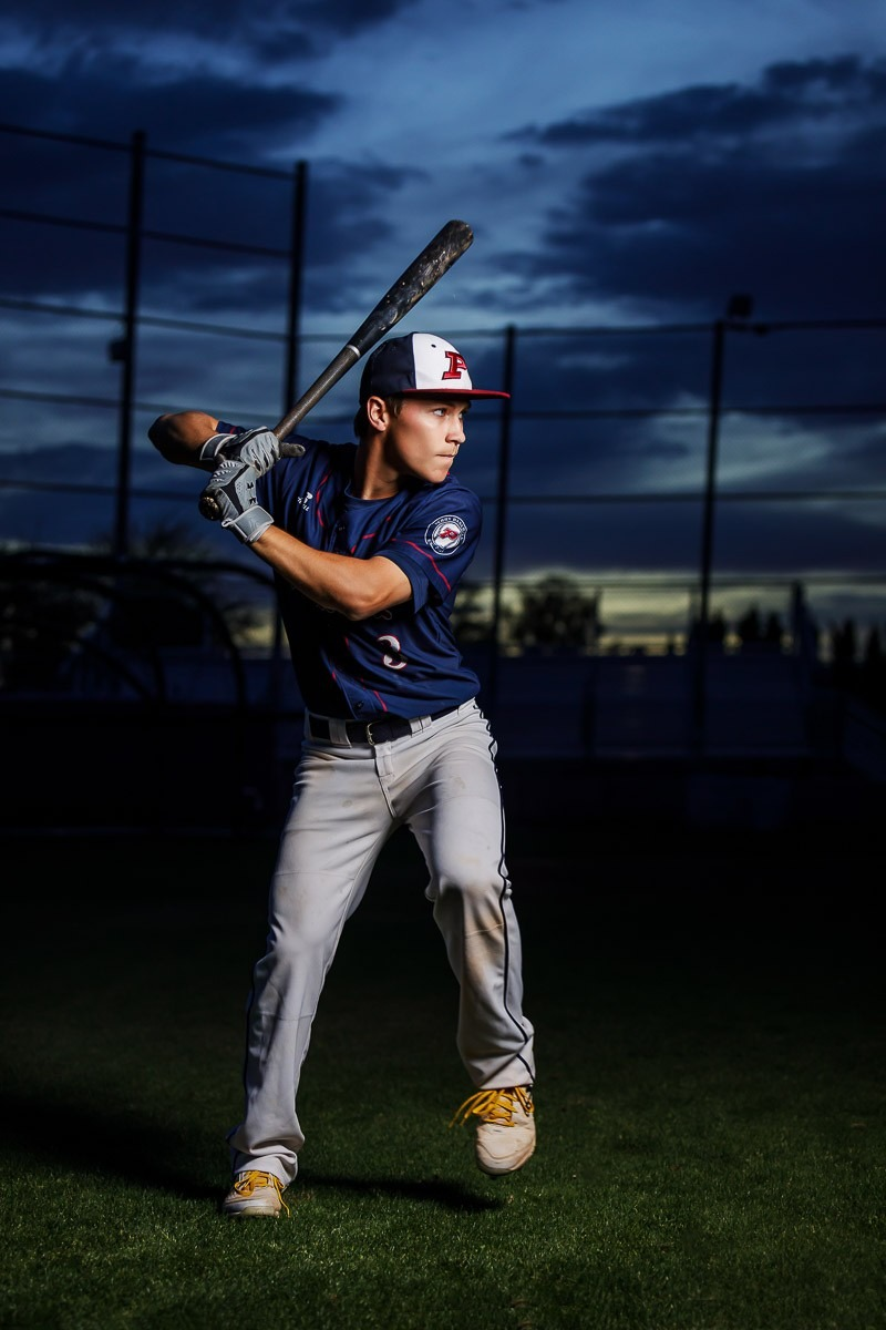 Az Senior Pictures Night Baseball Sunset