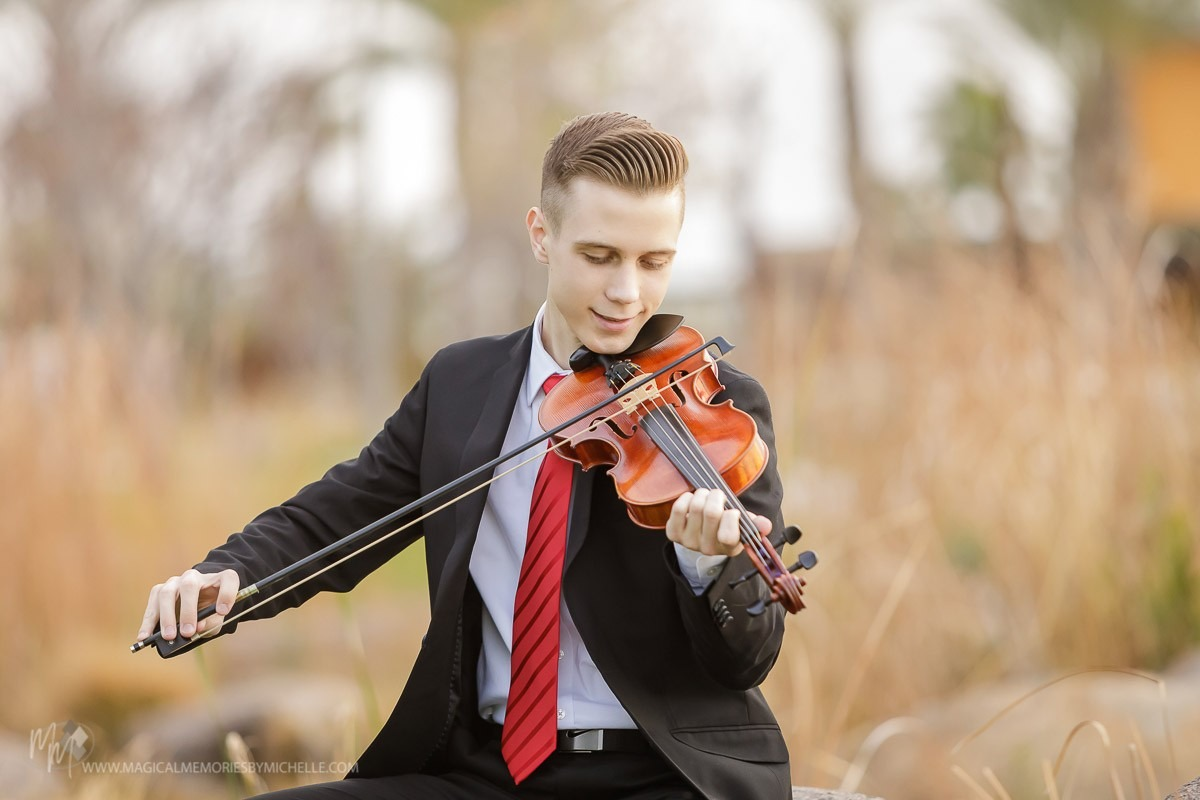 Chandler Senior Pictures Violin