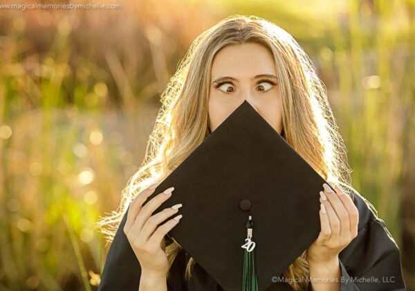 How to Get Beautiful Cap & Gown Graduation Photos | Mesa Senior Portrait Photographer