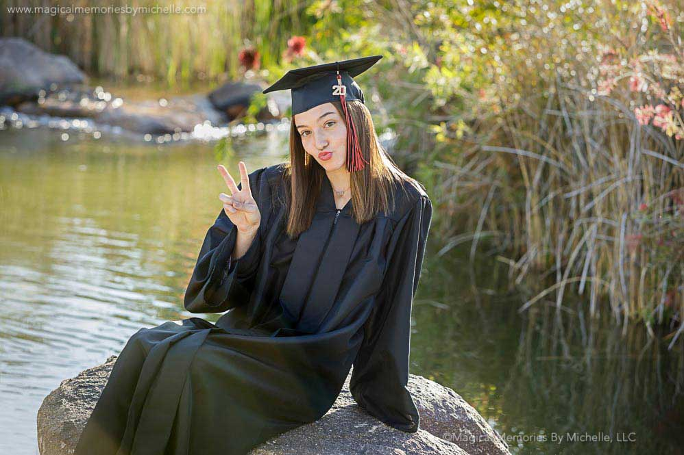 East Mesa High School Senior Pictures Cap Gown