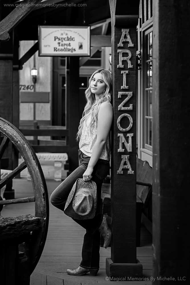 Downtown Scottsdale Senior Pictures Western