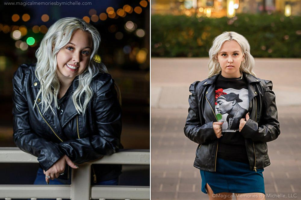 outdoor senior pictures mesa leather jacket