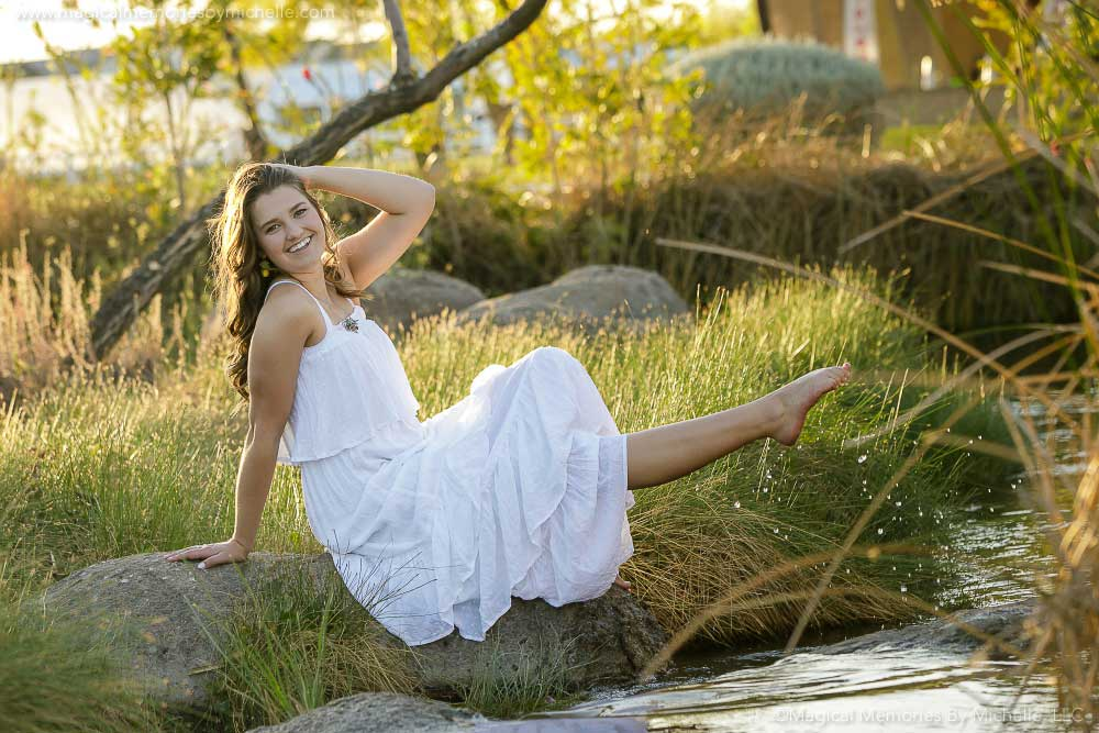 Ideas for Outdoor Senior Portraits by the Water | Chandler Professional Photographer for Casteel High School