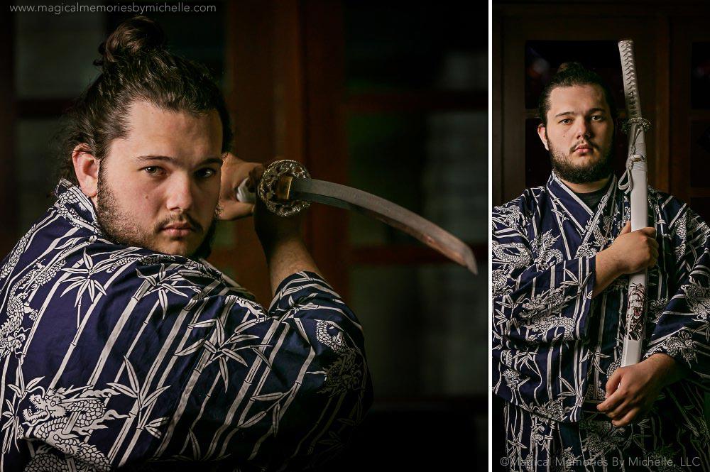 Combs Senior Pictures Swords