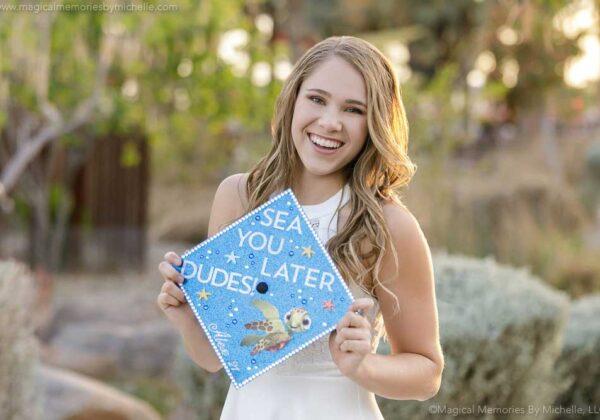 Creative Cap and Gown Graduation Photos | Mesa Senior Photographer