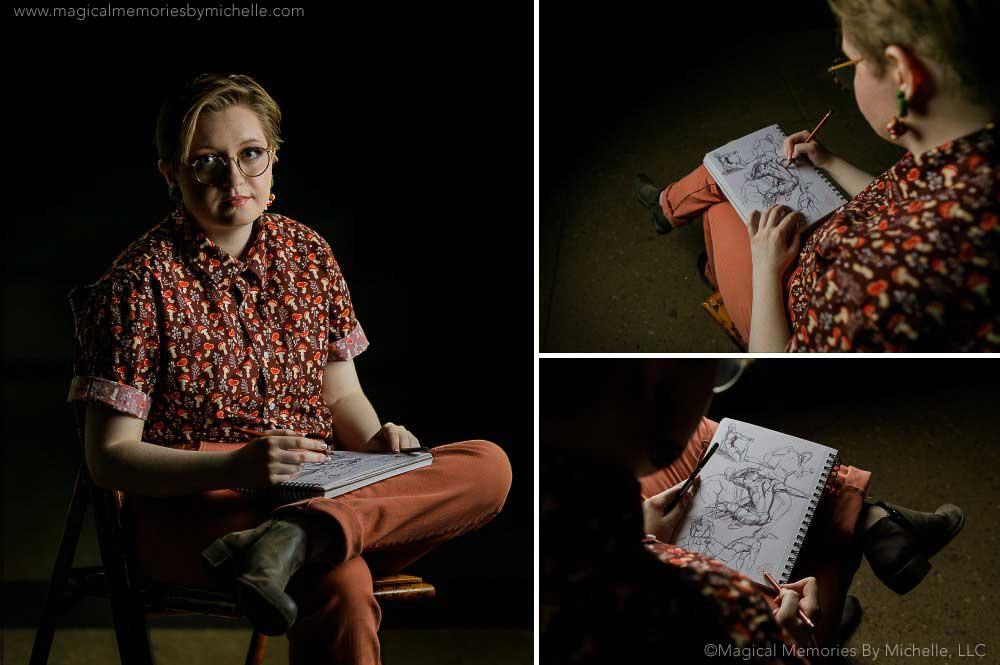 Artist Sketch Drawing Senior Pictures Mesa AZ